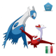 Latios and Latias with Megastone