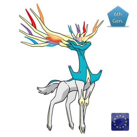 Xerneas (Shiny) Cartesio