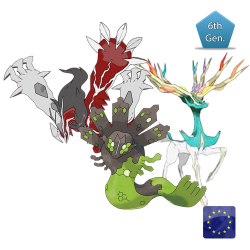 Trio Cartesiano (Xerneas, Yveltal e Zygarde) Shiny