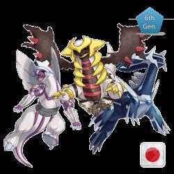 Trio Sinnoh (Dialga Palkia e Giratina)