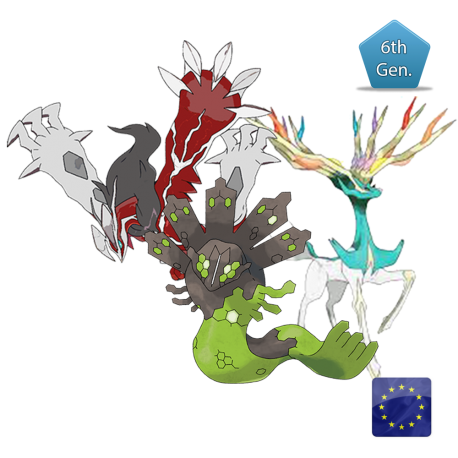 Descartes Trio (Xerneas, Yveltal and Zygarde) Shiny