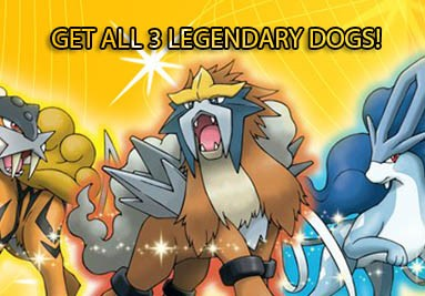 Get all 3 Legendary Dogs Shiny! Raikou, Entei and Suicune!